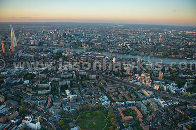 Aeril view of Bermondsey, London