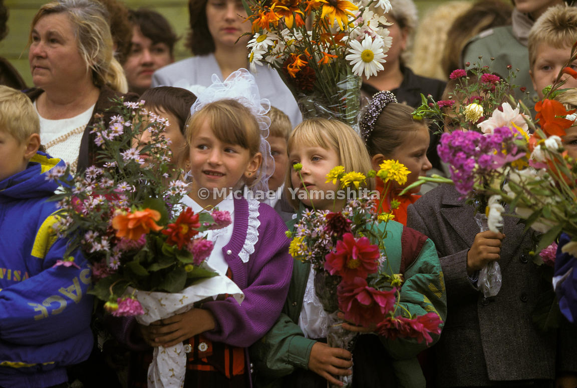 First day of School in Yazhno, Kurilsk