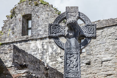 Cathedral and crosses, Cong, Ireland