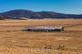 Barn and Grasslands in Valles Caldera National Preserve