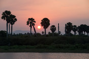Rufiji river at sunset, Selous Game Reserve, Tanzania