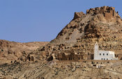 Douiret, Ksar hill village with ghorfas, cells used to store grain in the past, Tunisia
