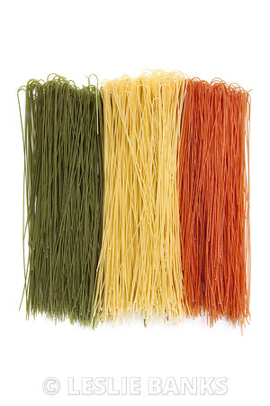 Dried Spaghetti Italian Flag