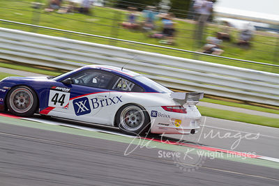 Team Parker's Porsche 911 GT4 in action at the Silverstone 500 - the third round of the British GT Championship 2014 - 1st Ju...