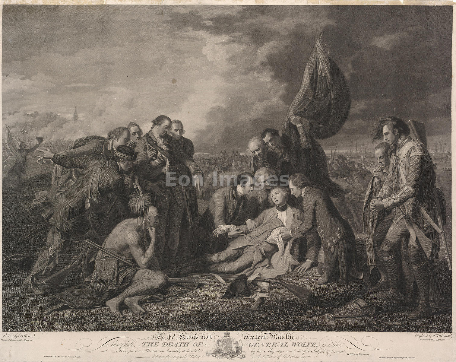 Death of James Wolfe during French and Indian War
