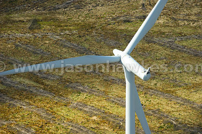 Aerial view of Whitelee Wind Farm, Scotland