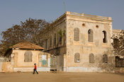 Relais de l'Espadon, old colonial hotel, former home of the French governor, Gorée Island, Senegal