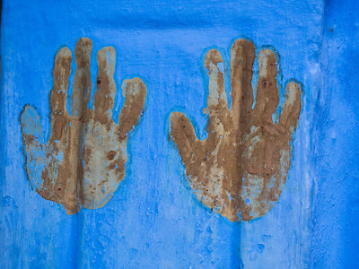 Hand prints are considered to be auspicious in many cultures in India. It is believed that they bring good luck and ward off ...