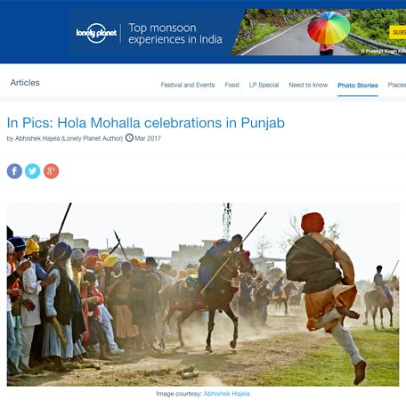 Hola Mohalla celebrations in Punjab; Lonely Planet March 2017