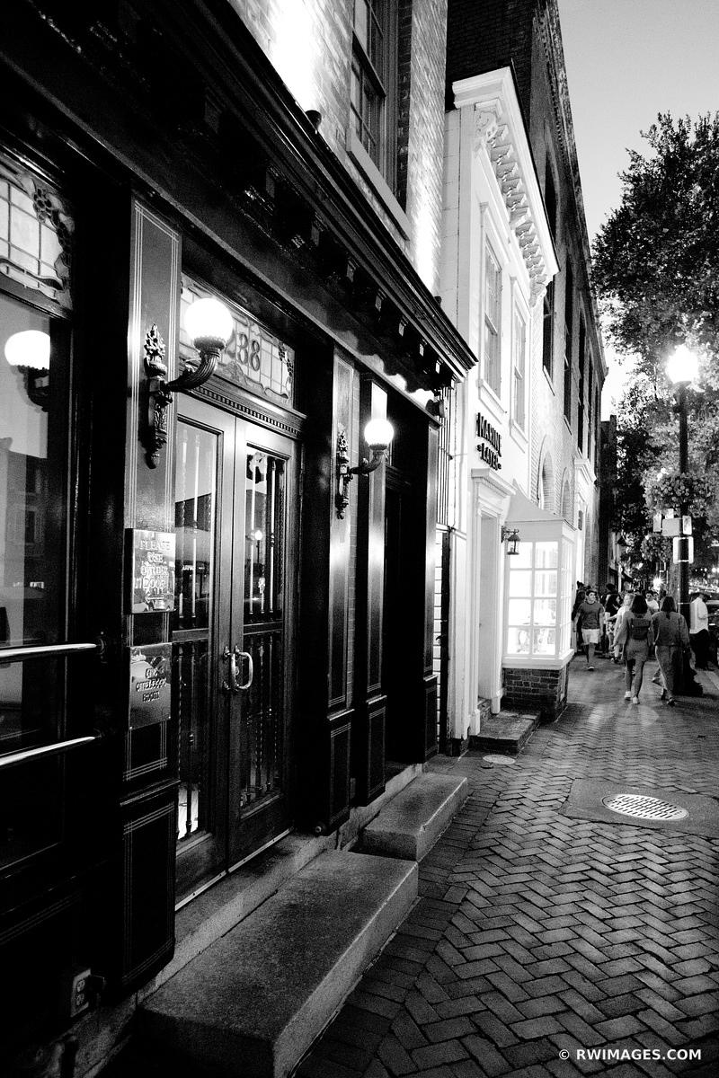 GEORGETOWN EVENING WASHINGTON DC BLACK AND WHITE VERTICAL