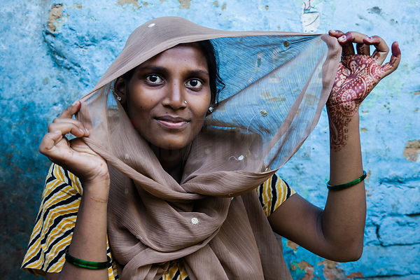 Portrait of a Young Woman in a Delhi Shanty Town