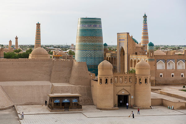 View of the City from the Western Gate of Old Khiva