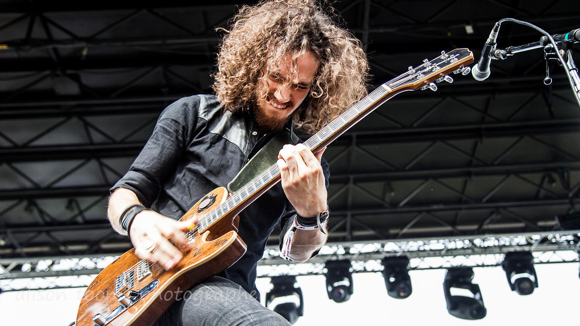 Oli  Brown, guitar and vocals, Raveneye