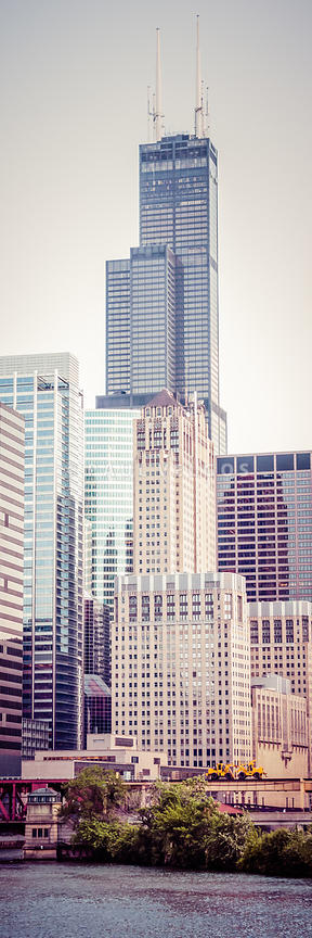 Chicago Vertical Panorama of Sears Willis Tower