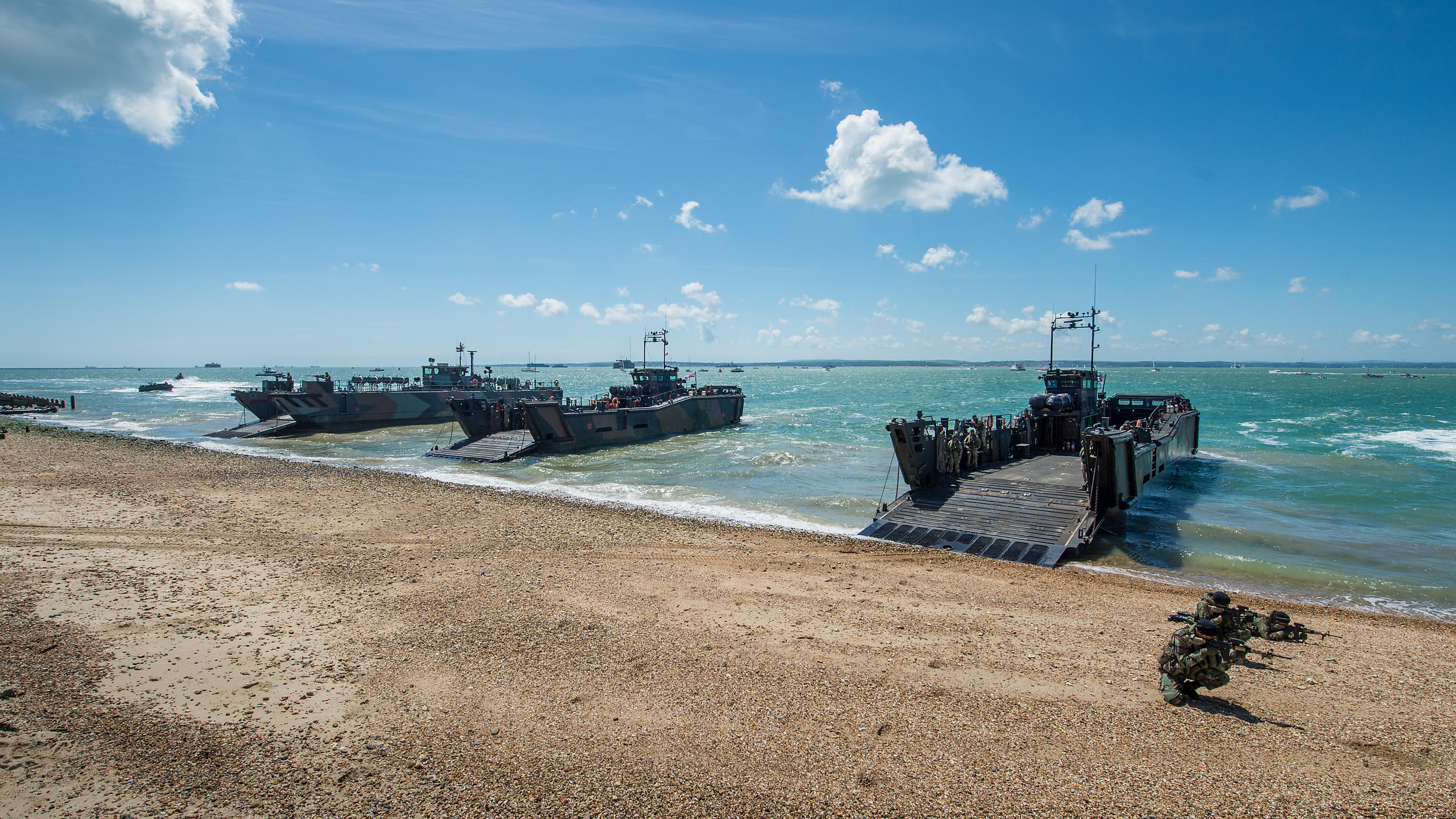 D-Day Landings Re-enactment on Southsea Beach During 70th Anniversary Commemorations