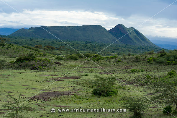 The sleeping warrior is a hill in Soysambu Conservancy, Kenya