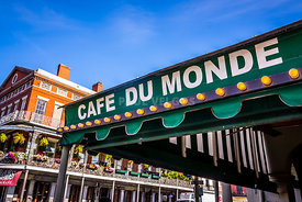 Cafe Du Monde Picture in New Orleans Louisiana
