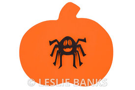 Foam Spider on Pumpkin Craft