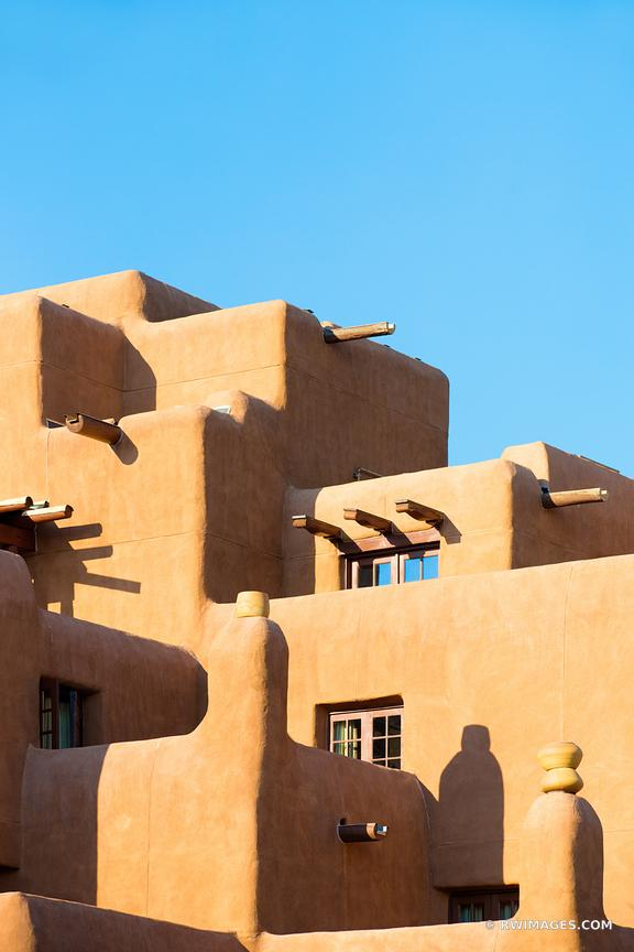 SANTA FE ADOBE ARCHITECTURE SANTA FE NEW MEXICO COLOR VERTICAL