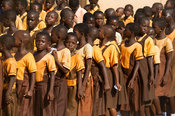 School children marching on 6 March, Independence Day, Ghana