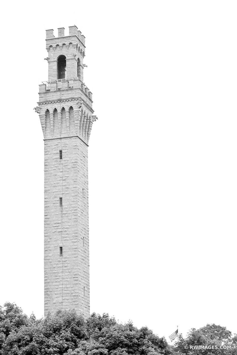 PILGRIM MONUMENT TOWER PROVINCETOWN CAPE  COD MASSACHUSETTS BLACK AND WHITE