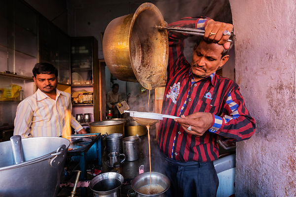 Tea Seller Making Chai