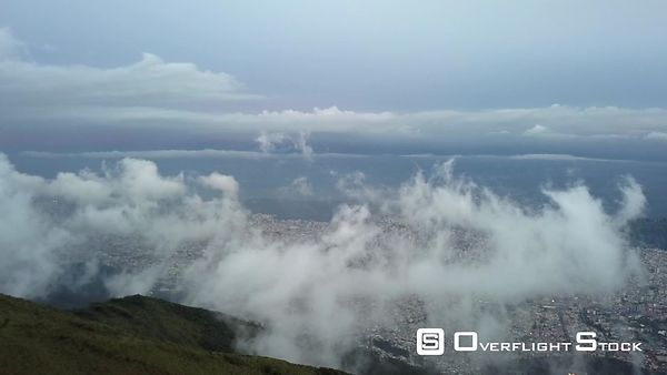 Quito Ecuador from mountains