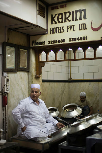 India - Delhi - Salahuddin one of the directors at Karim's Restaurant