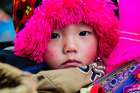 Flower Hmong Child