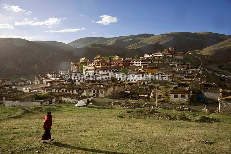 The remote monastery in Litang, said to be the highest on the planet, with an altitude of over 13,000 ft (4,000 m) was founde...