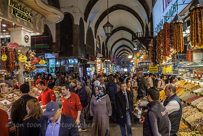 People shopping in the spice market, Istanbul