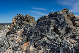 Obsidian and Pumice in Newberry National Volcanic Monument