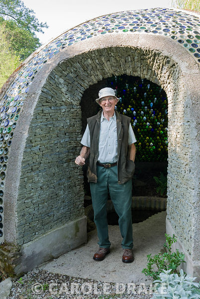 Richard Pim, owner and creator of the garden. Westonbury Mill Water Garden, Pembridge, Herefordshire, UK
