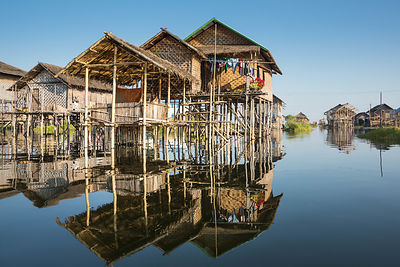 Stilt Houses on Inle Lake