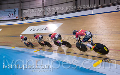 Junior Men Team Pursuit 1-2 Final. Canadian Track Championships (Jr, U17, Para), April 14, 2019