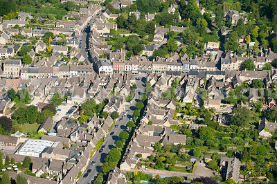 Aerial view of the village of Fulbrook.