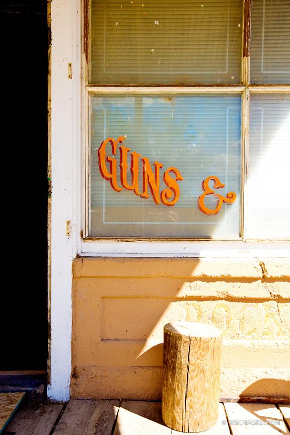 OLD STORE GUN SHOP RURAL TOWN TURQUOISE TRAIL NEW MEXICO
