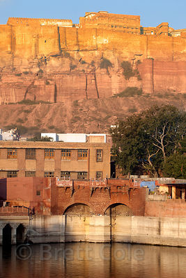 Gulab sagar and Mehrangarh Fort, Jodhpur, Rajasthan, India