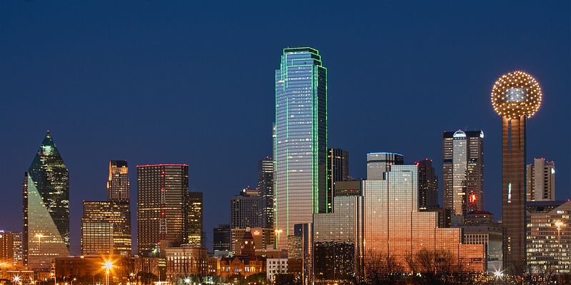Dallas Skyline from the Levee