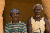 Old couple, M'Lomp, Casamance, Senegal