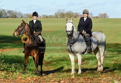 Caroline Stewart near Woolsthorpe. The Belvoir Hunt at the Kennels 13/11