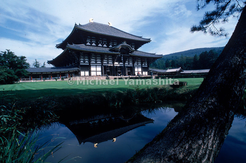 The austere elegance of the Daibutsu-den hall of the Todaiji in Nara, Japan, the world's largest wooden building and home to ...