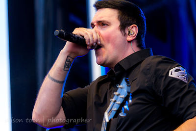 Benjamin Burnley, vocals and guitar, Breaking Benjamin