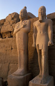 Temple of Karnak, statues in Cachettes Court, Luxor, Egypt