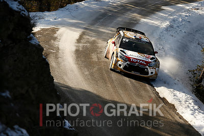 Key words: Sébastien Loeb / DS 3 / 2015 / rally / motorsport / Monte-Carlo..Copyright: Sarah Vessely / Photografik / McKlein