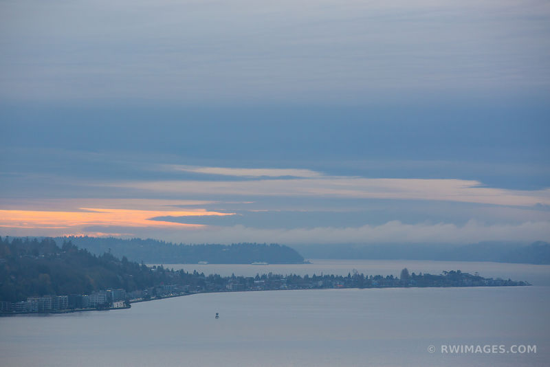 SEATTLE PUGET SOUND COLD WINTER SUNSET