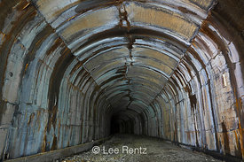Interior of Windy Point Tunnel along Iron Goat Trail