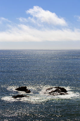 Rocks in the Pacific Ocean near Crescent City, California