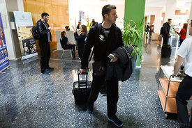 of PPD Zagreb during the Final Tournament - Final Four - SEHA - Gazprom league, team arrival in Varazdin, Croatia, 31.03.201...