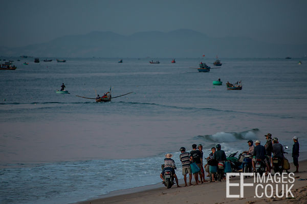 Early Morning Beach Meeting, Mui Ne